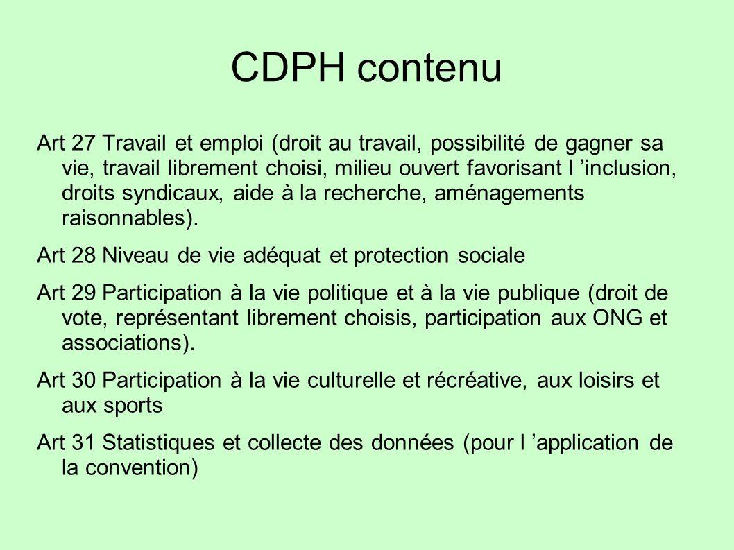 CDPH contenu