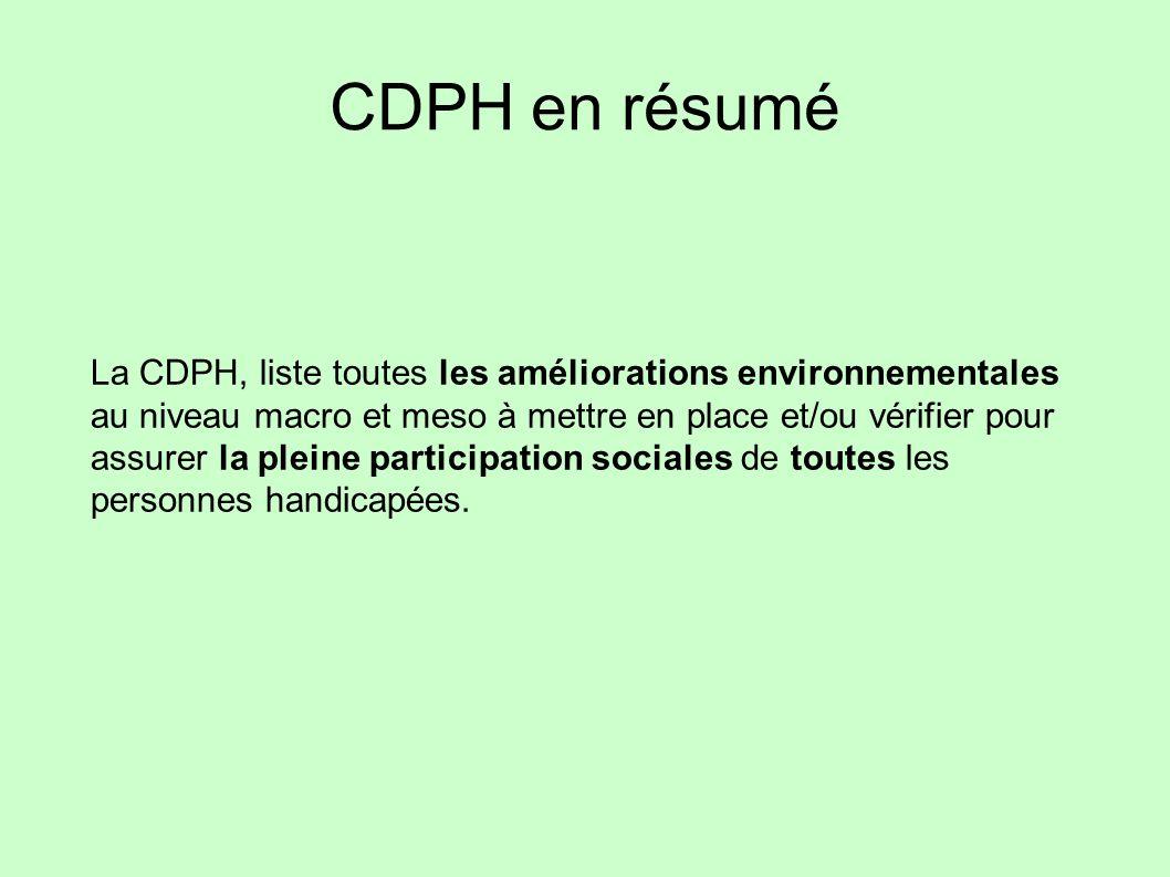 CDPH en résumé
