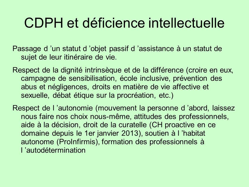 CDPH et déficience intellectuelle