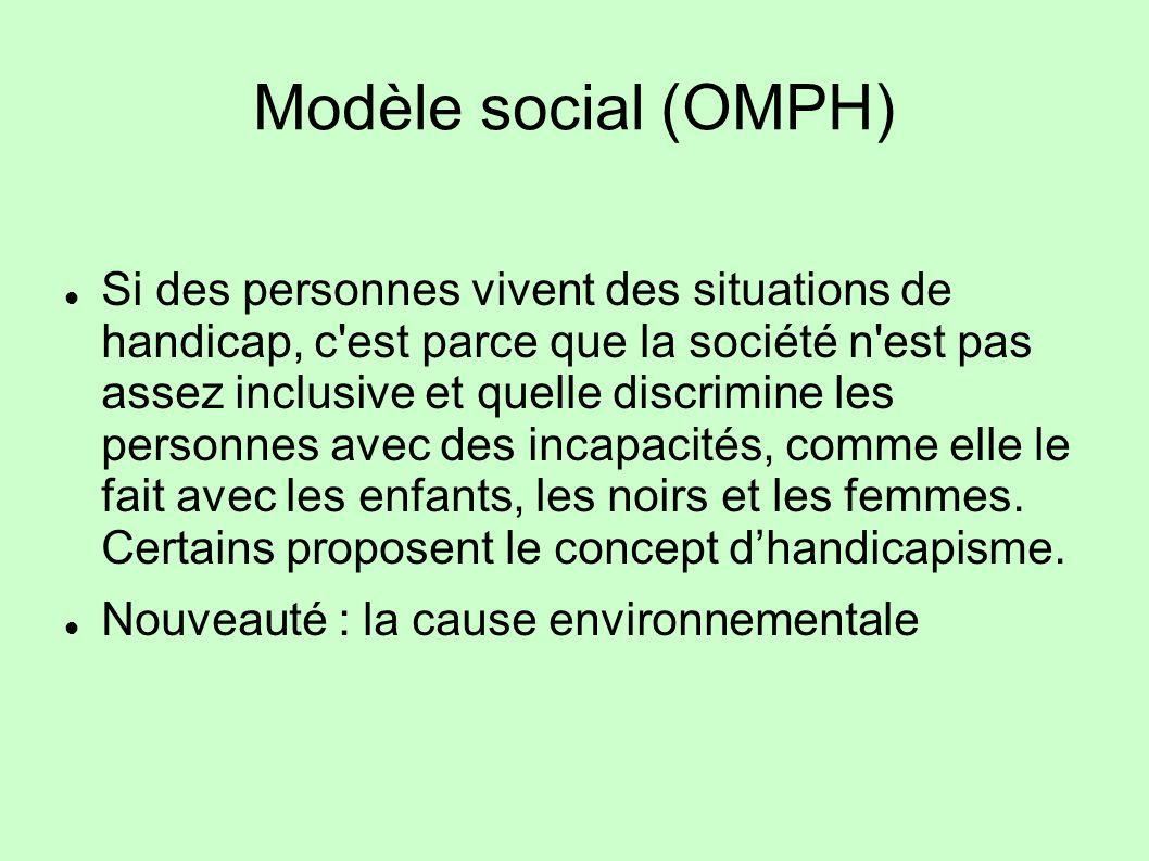 Modèle social (OMPH)
