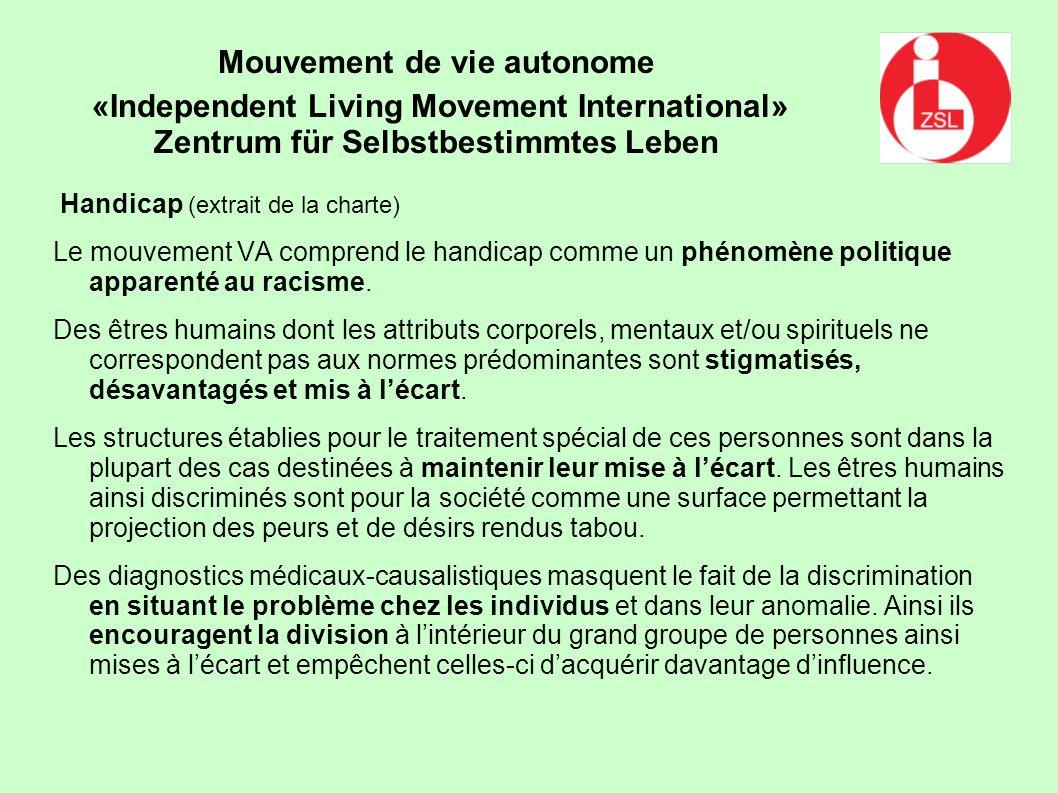 Mouvement de vie autonome «Independent Living Movement International»