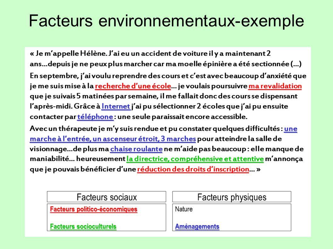 Facteurs environnementaux-exemple