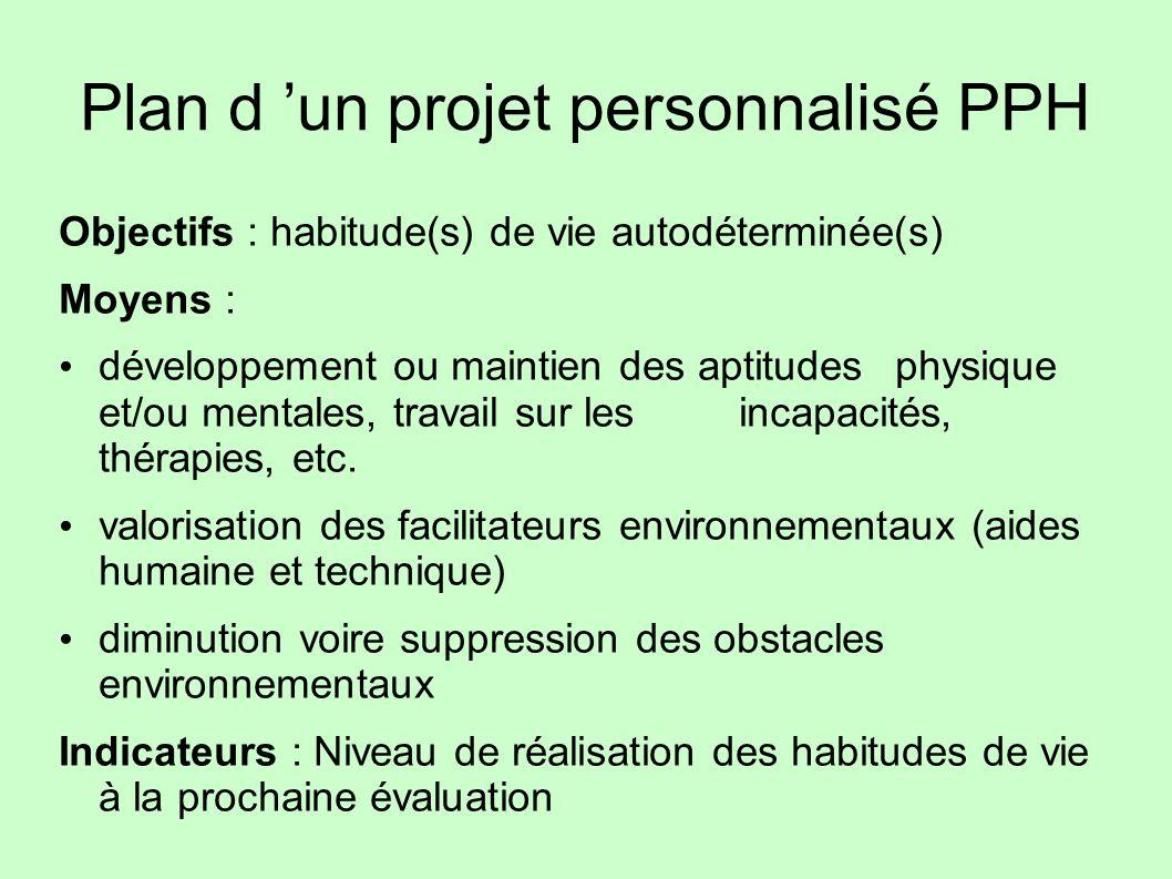 Plan d 'un projet personnalisé PPH