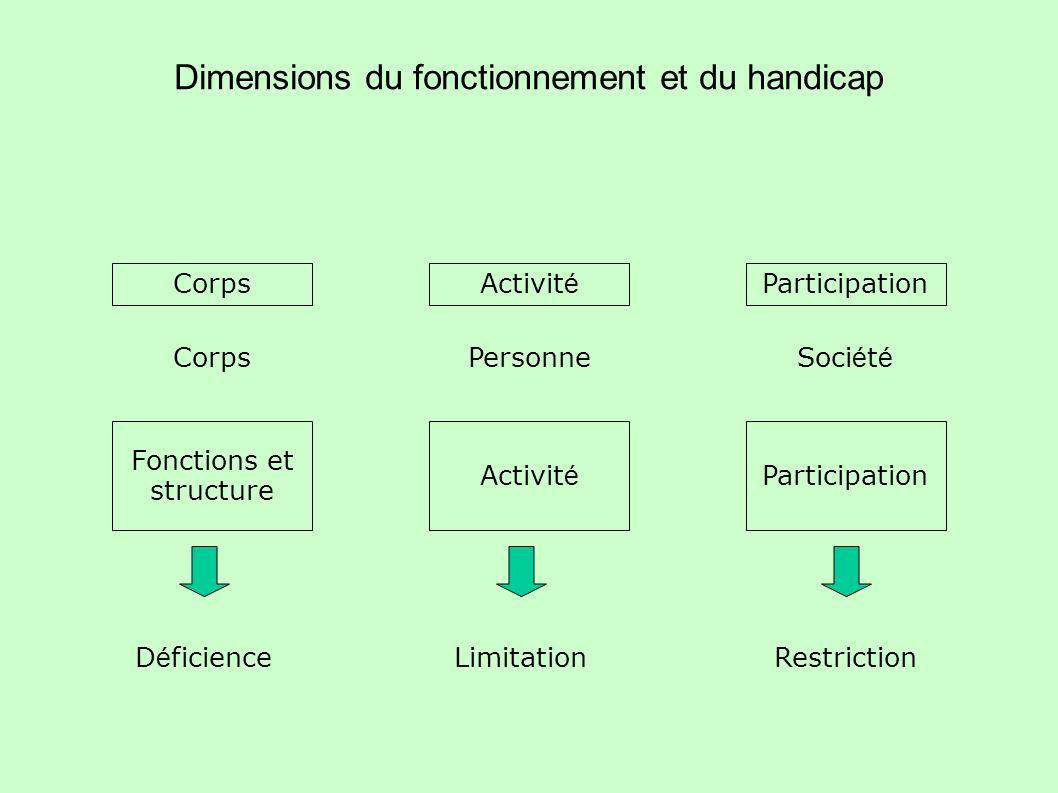 Dimensions du fonctionnement et du handicap