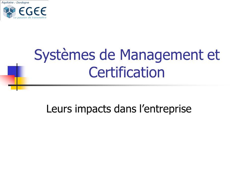 Systèmes de Management et Certification