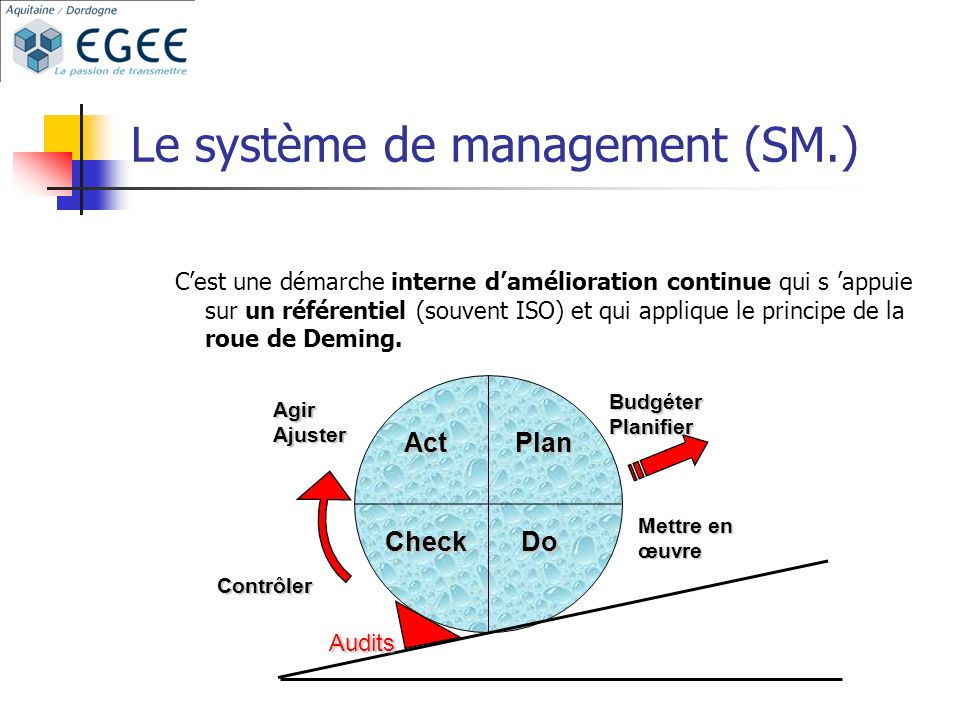 Le système de management (SM.)