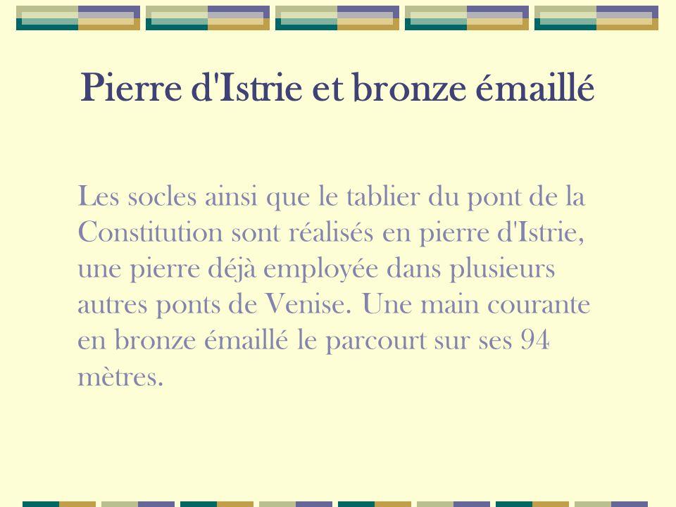 Pierre d Istrie et bronze émaillé