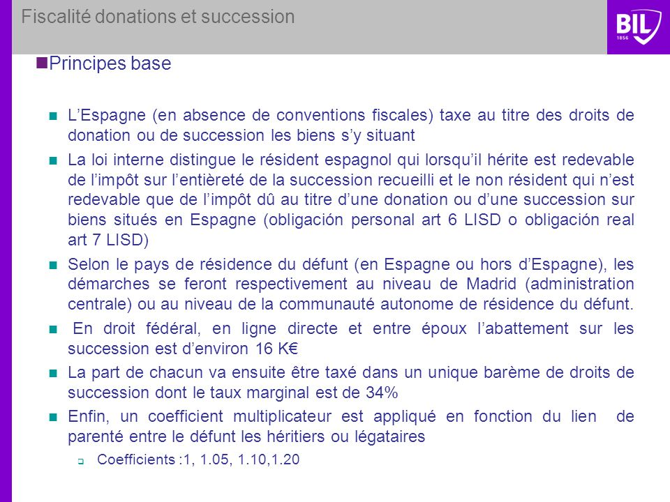 Fiscalité donations et succession