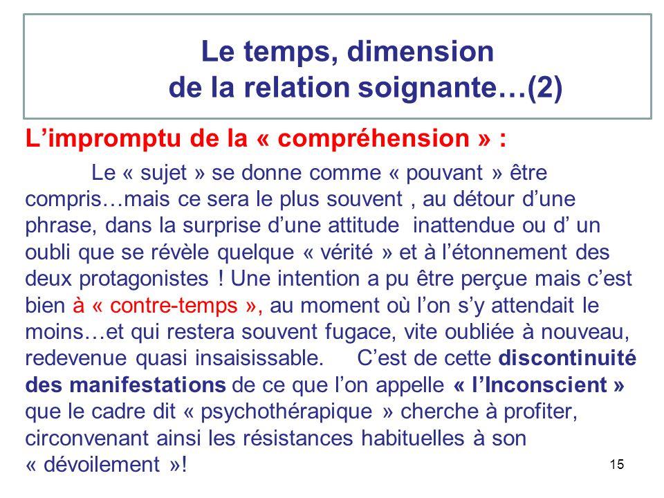 de la relation soignante…(2)