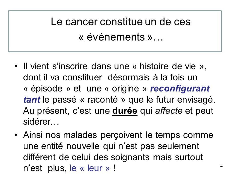 Le cancer constitue un de ces « événements »…