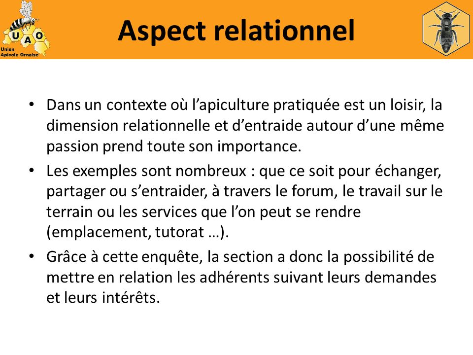 Aspect relationnel