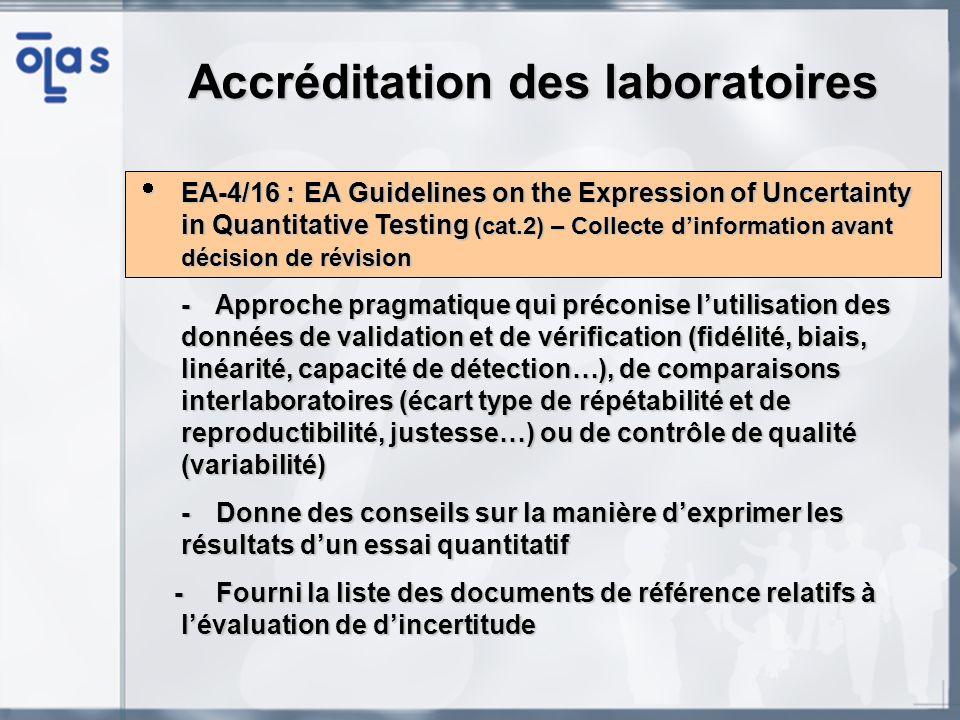 Accréditation des laboratoires