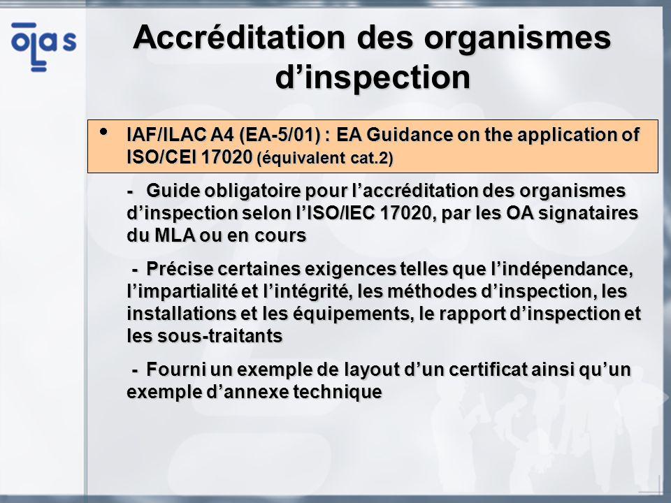 Accréditation des organismes d'inspection