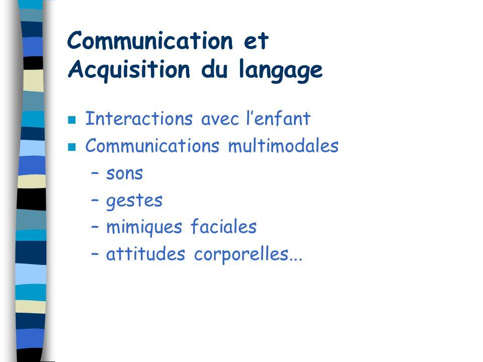 Communication et Acquisition du langage
