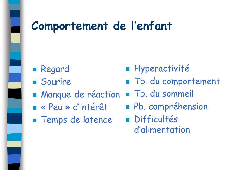 Comportement de l'enfant
