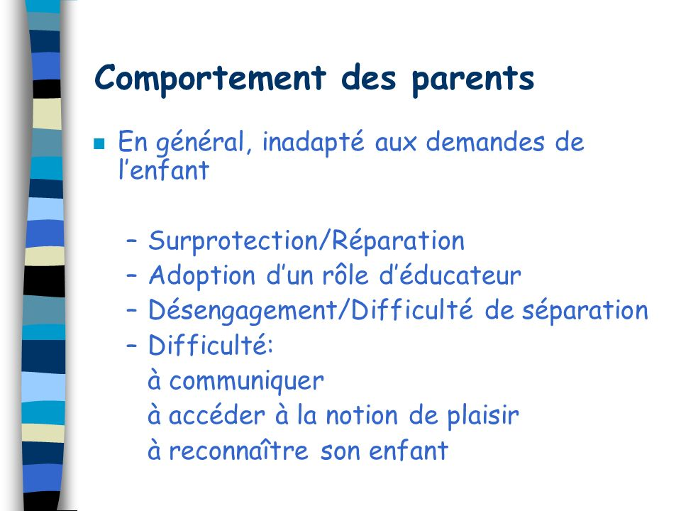 Comportement des parents