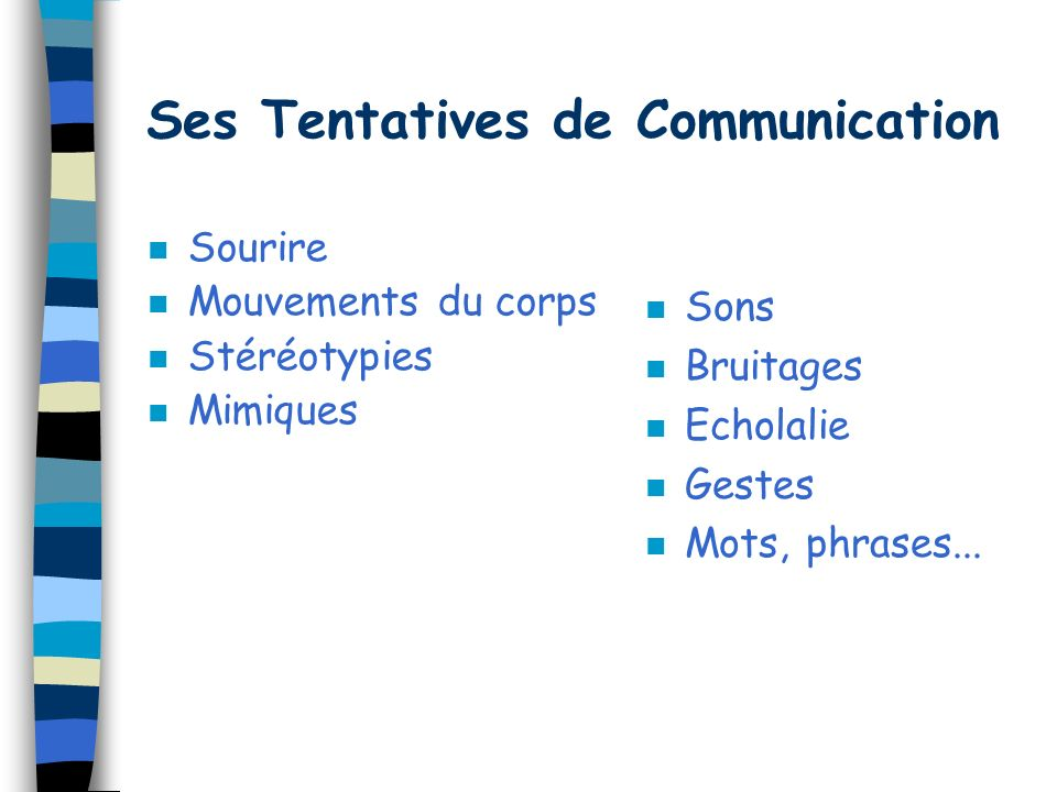 Ses Tentatives de Communication