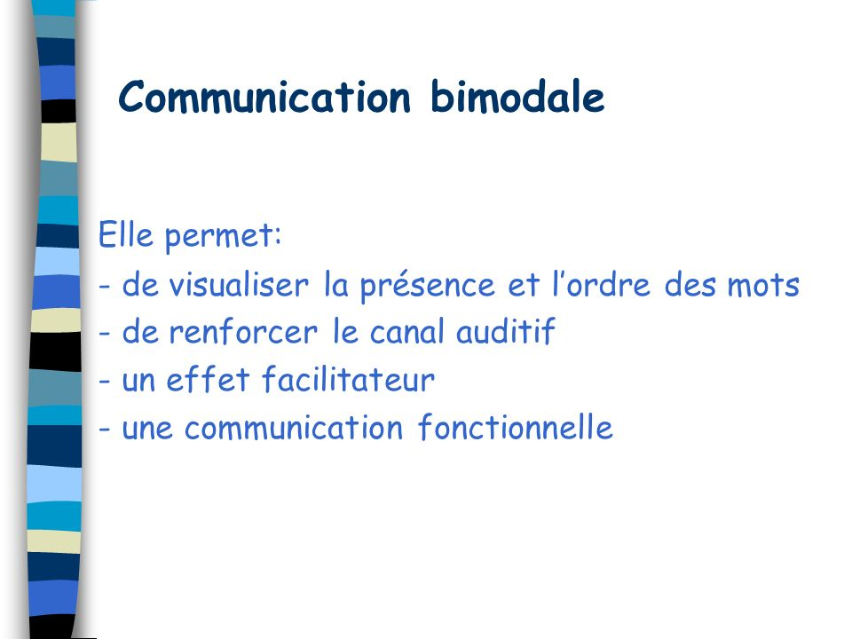 Communication bimodale
