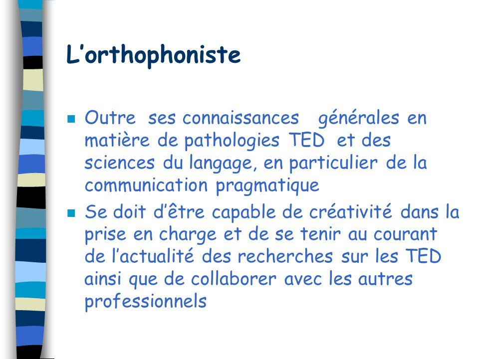 L'orthophoniste
