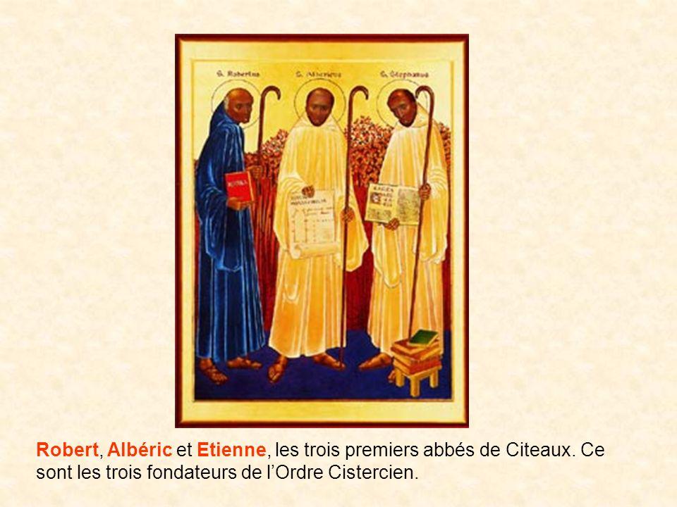 Robert, Albéric et Etienne, les trois premiers abbés de Citeaux