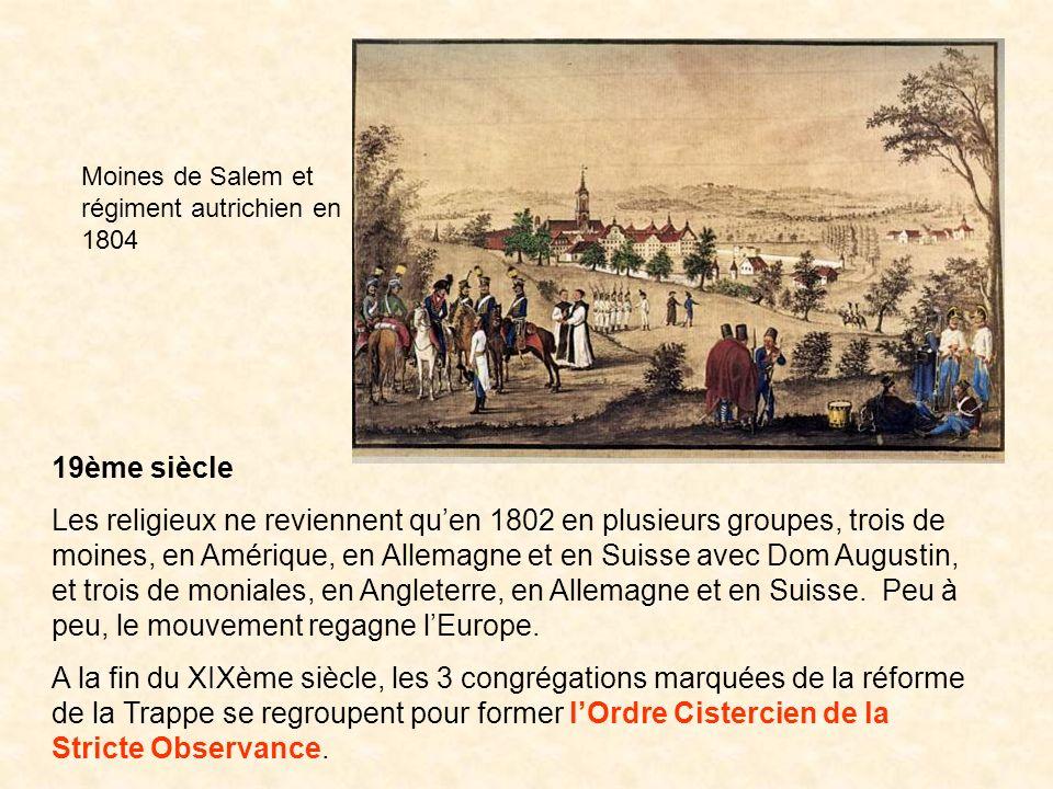 Moines de Salem et régiment autrichien en 1804