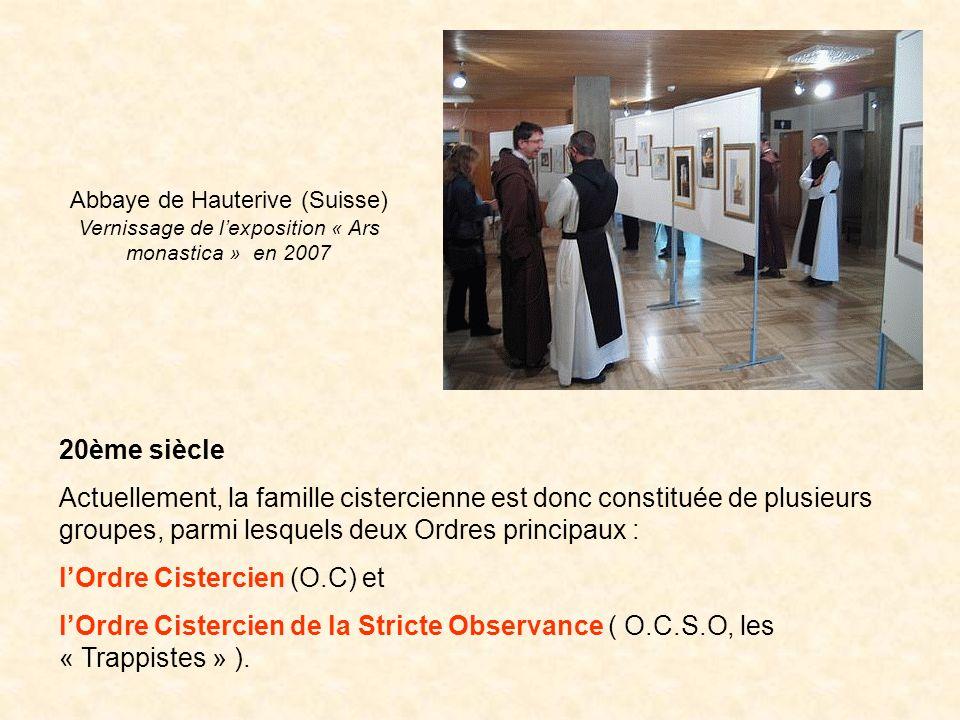l'Ordre Cistercien (O.C) et