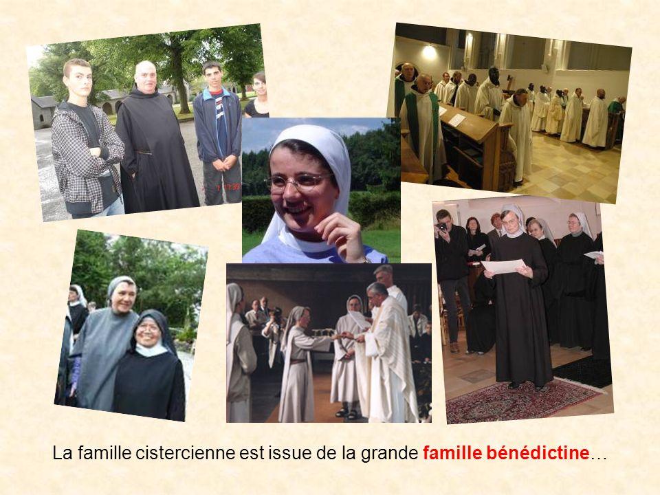 La famille cistercienne est issue de la grande famille bénédictine…