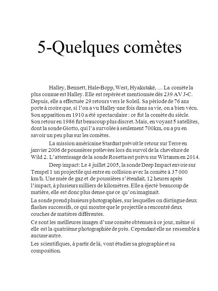5-Quelques comètes