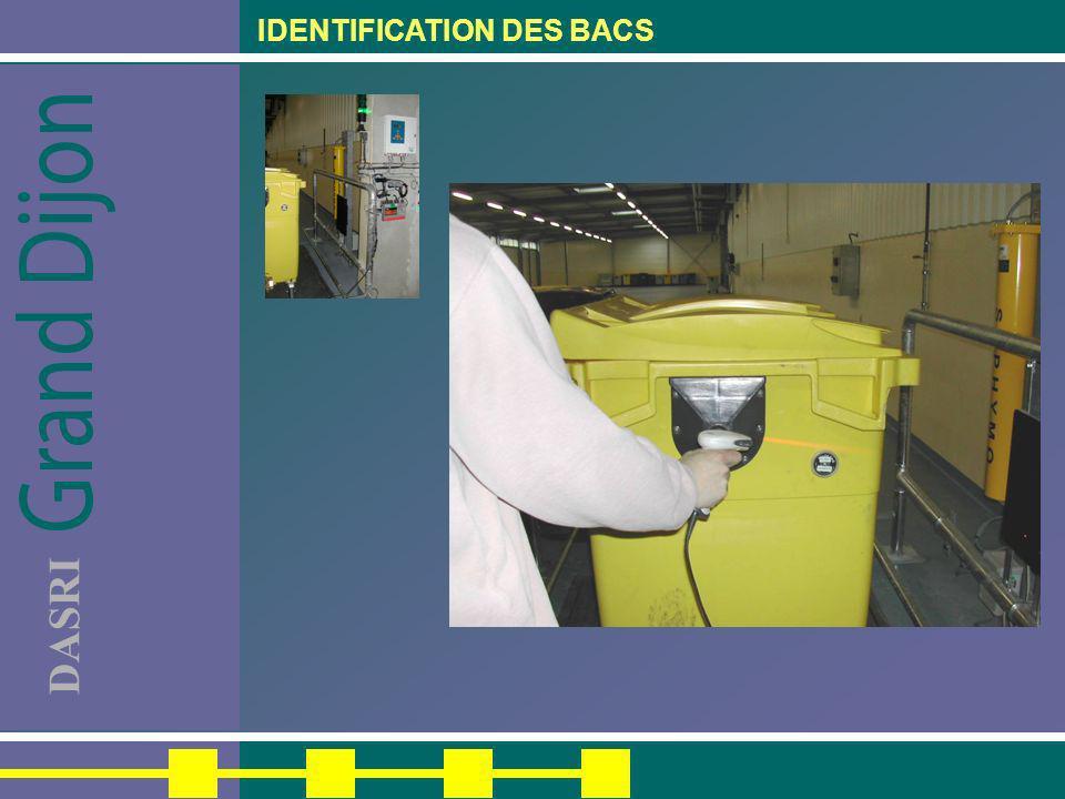 IDENTIFICATION DES BACS