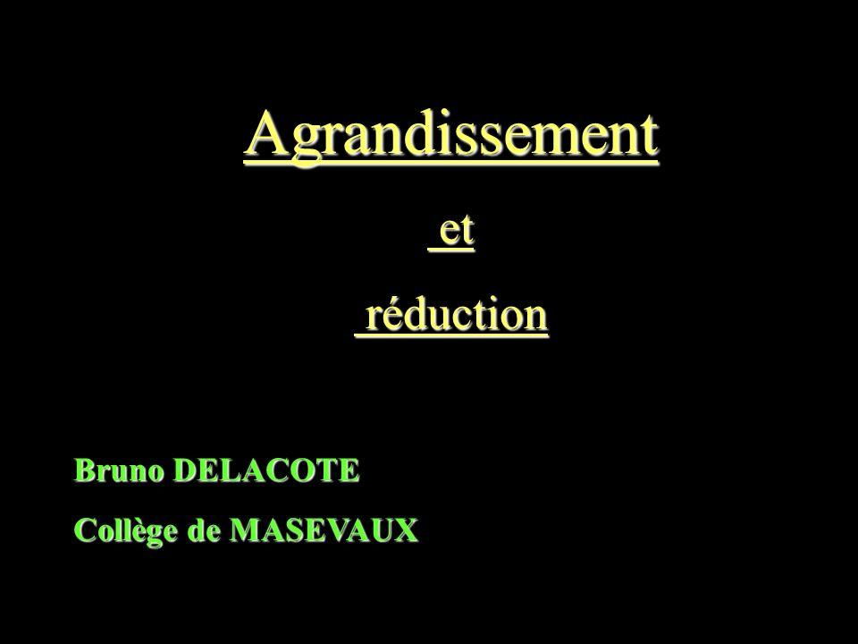 Agrandissement et réduction Bruno DELACOTE Collège de MASEVAUX
