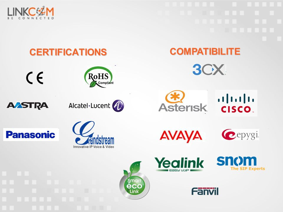 CERTIFICATIONS COMPATIBILITE