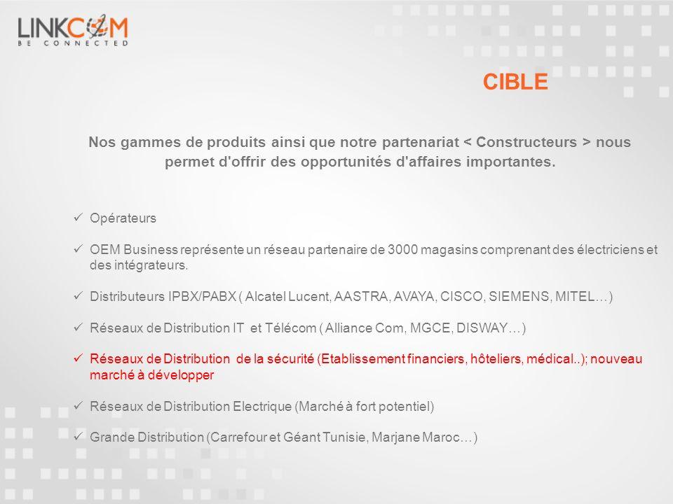 CIBLE Nos gammes de produits ainsi que notre partenariat < Constructeurs > nous permet d offrir des opportunités d affaires importantes.
