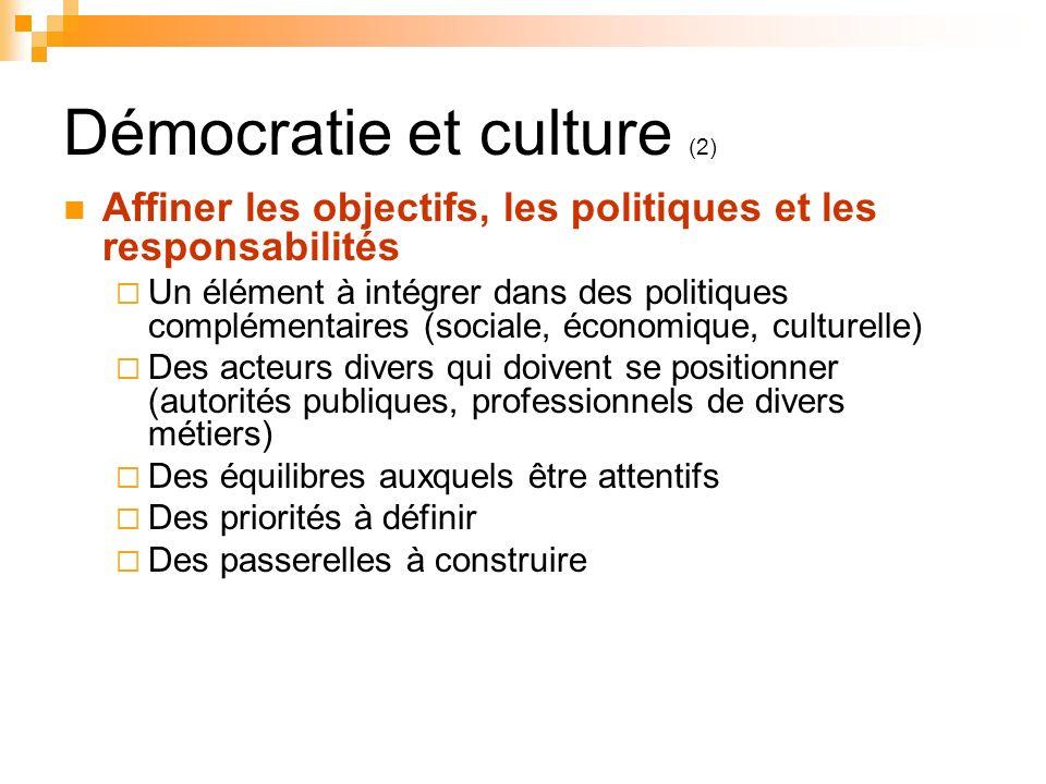 Démocratie et culture (2)