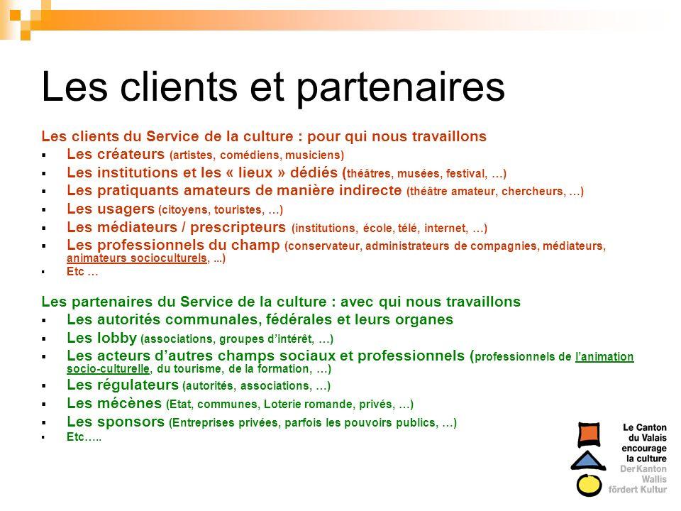 Les clients et partenaires
