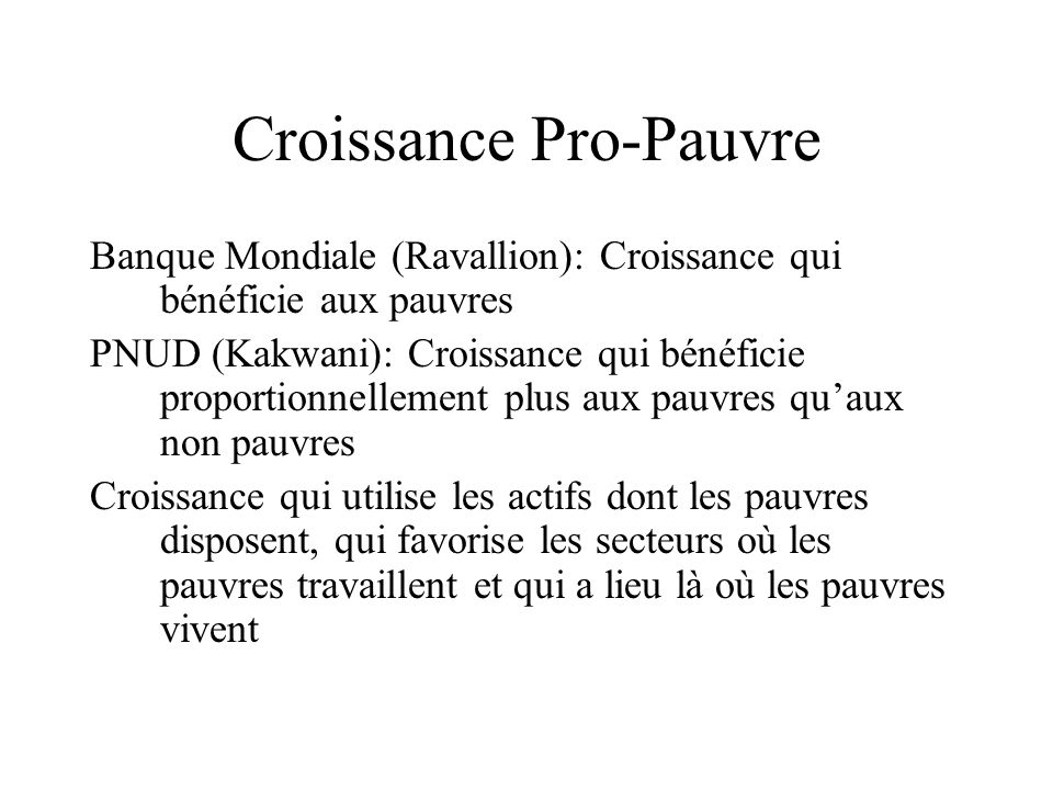 Croissance Pro-Pauvre