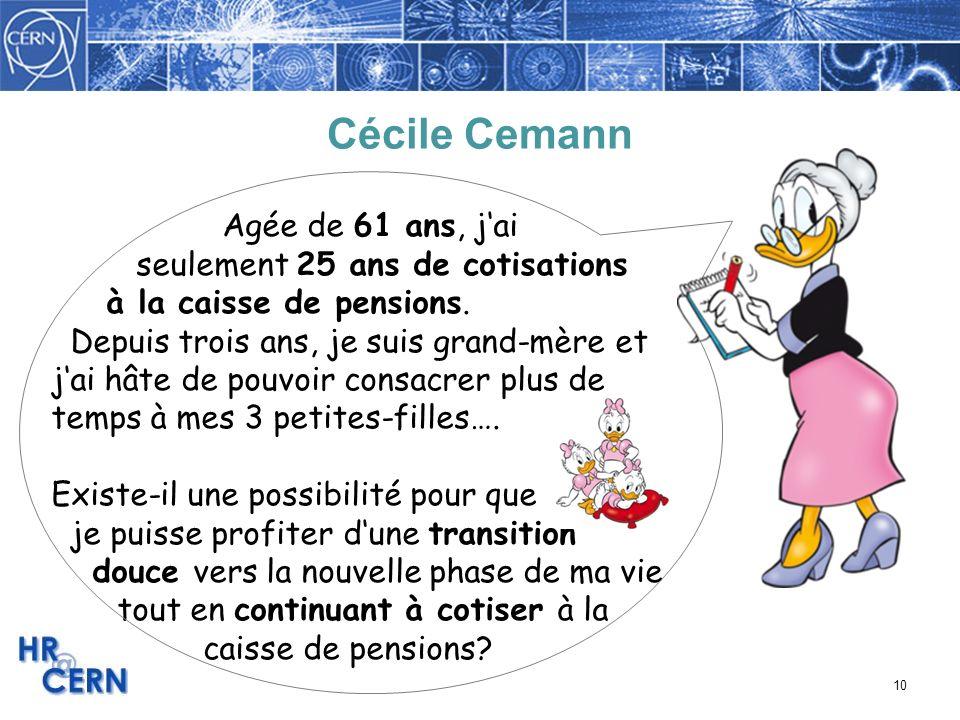Cécile Cemann Agée de 61 ans, j'ai seulement 25 ans de cotisations
