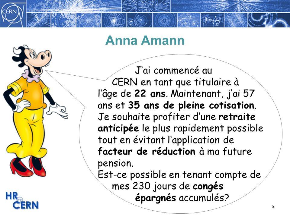 Anna Amann J'ai commencé au CERN en tant que titulaire à