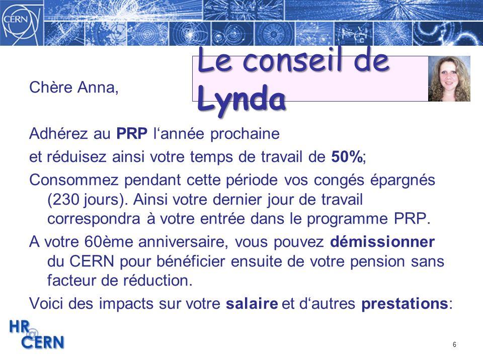 Le conseil de Lynda