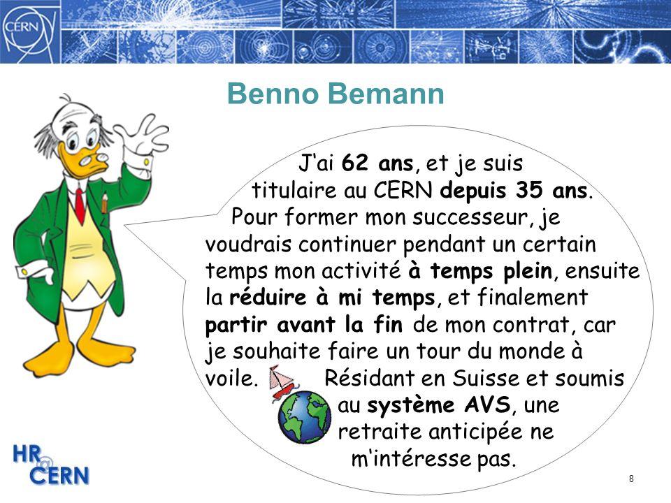 Benno Bemann J'ai 62 ans, et je suis titulaire au CERN depuis 35 ans.