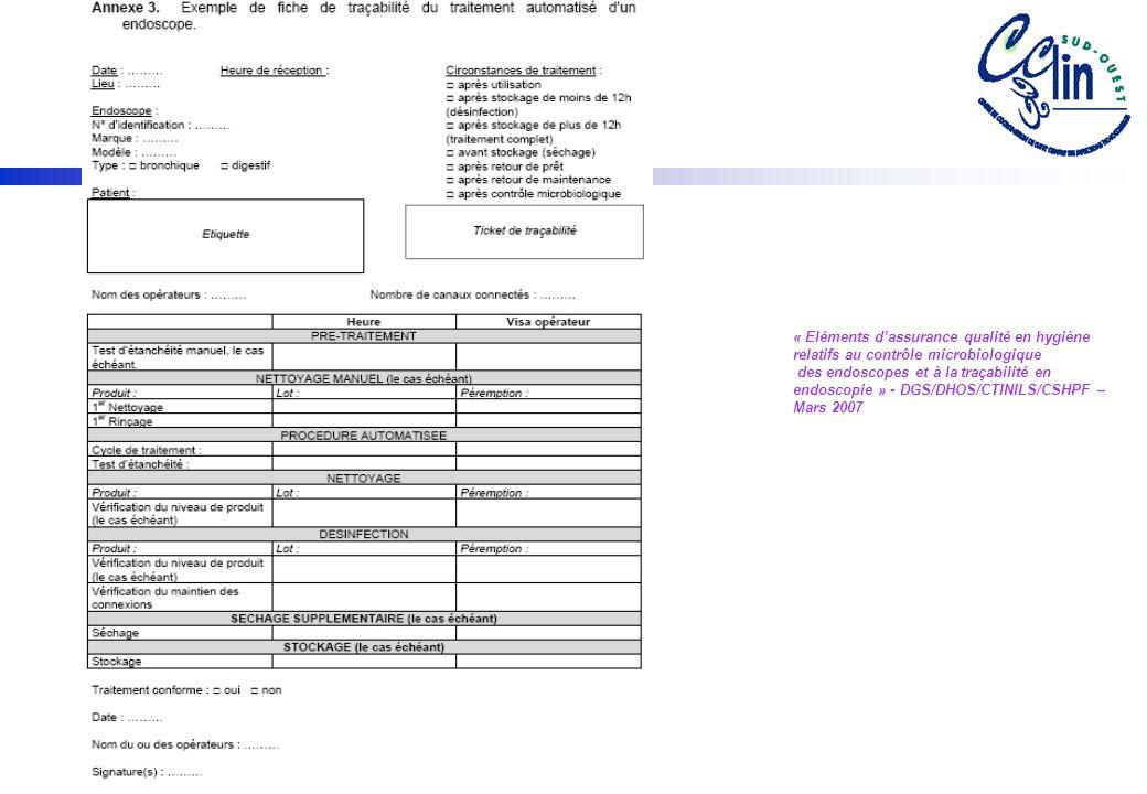 « Eléments d'assurance qualité en hygiène relatifs au contrôle microbiologique