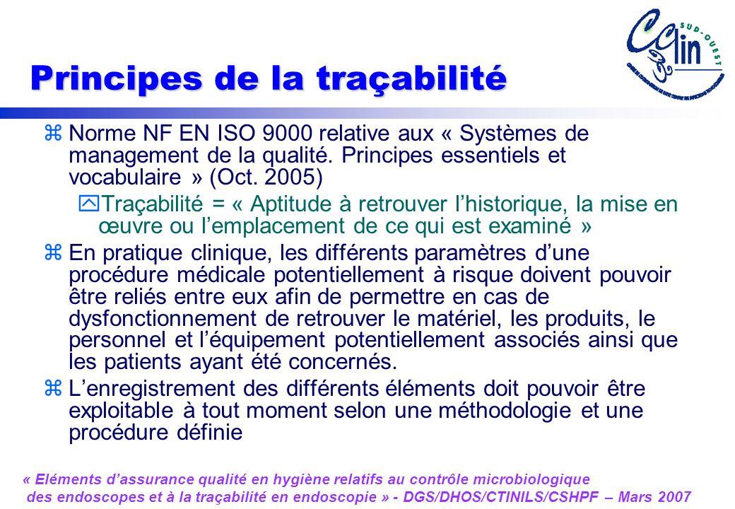 Principes de la traçabilité