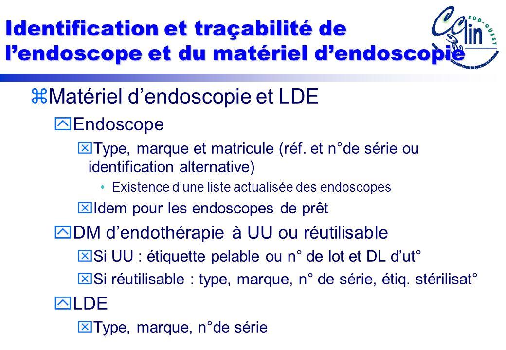 Matériel d'endoscopie et LDE