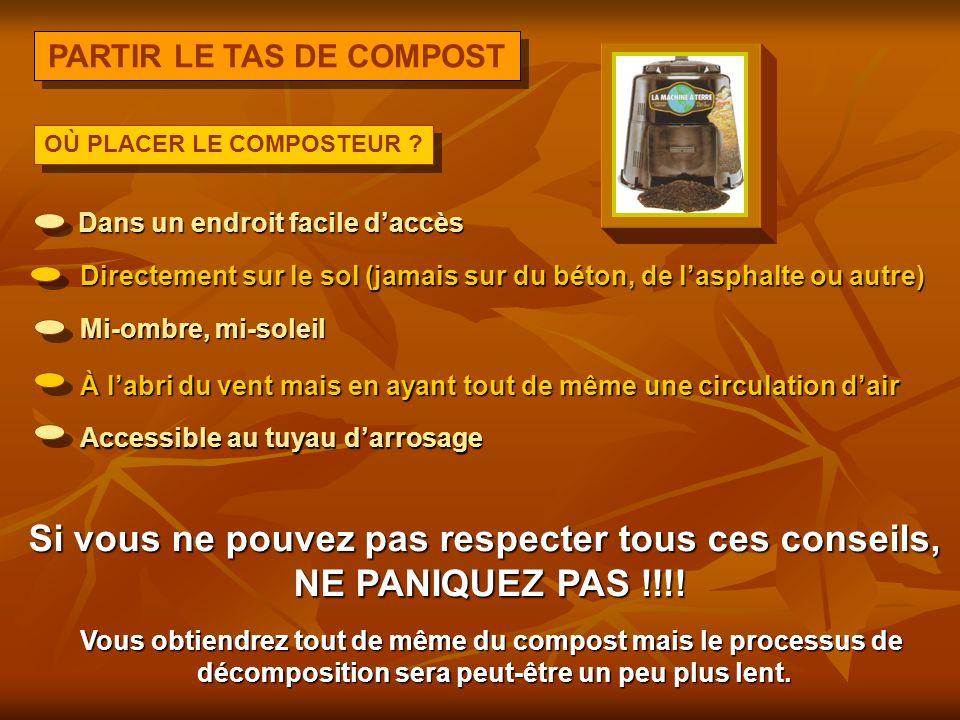 PARTIR LE TAS DE COMPOST