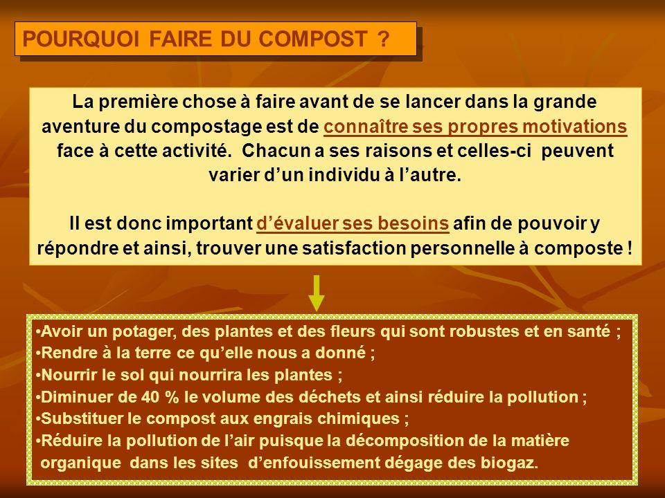 POURQUOI FAIRE DU COMPOST