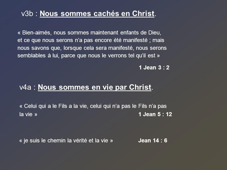 v3b : Nous sommes cachés en Christ.