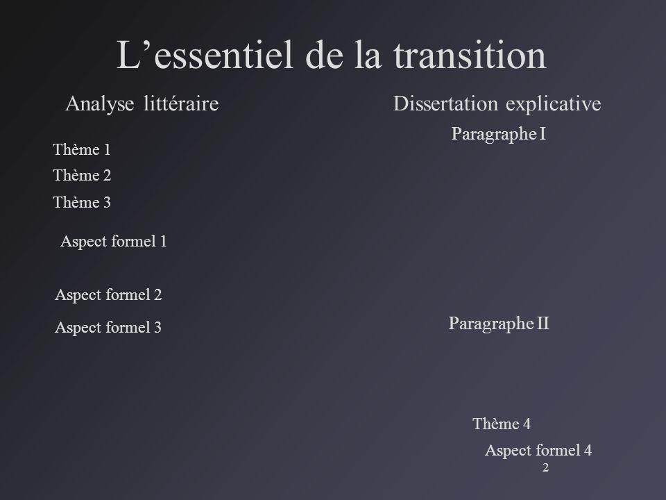 paragraphe de dissertation explicative Cette fiche méthode présente un exemple commenté de dissertation : l'illustrent constitueront un paragraphe en déduire une valeur explicative.