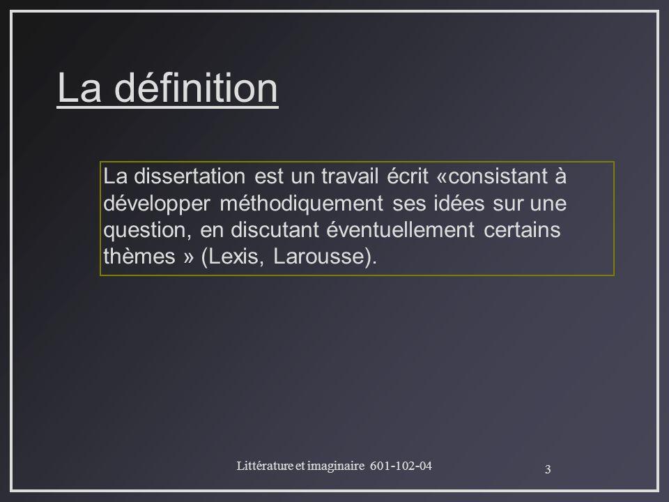 definition of dissertation