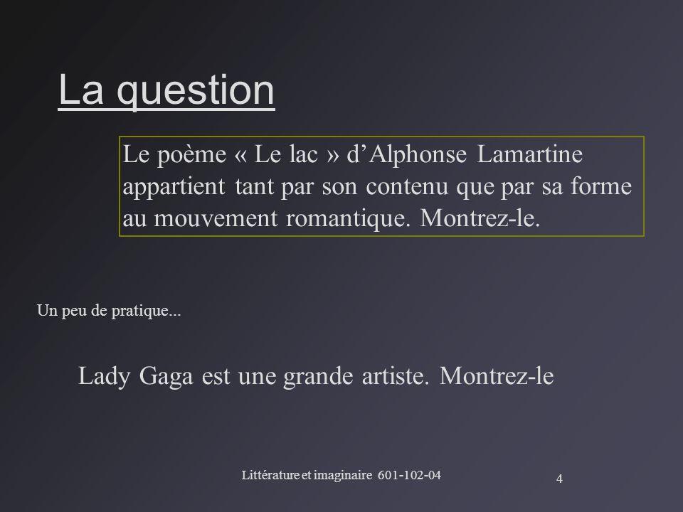 Littérature et imaginaire 601-102-04
