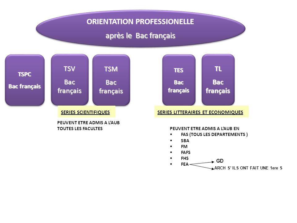 ORIENTATION PROFESSIONELLE