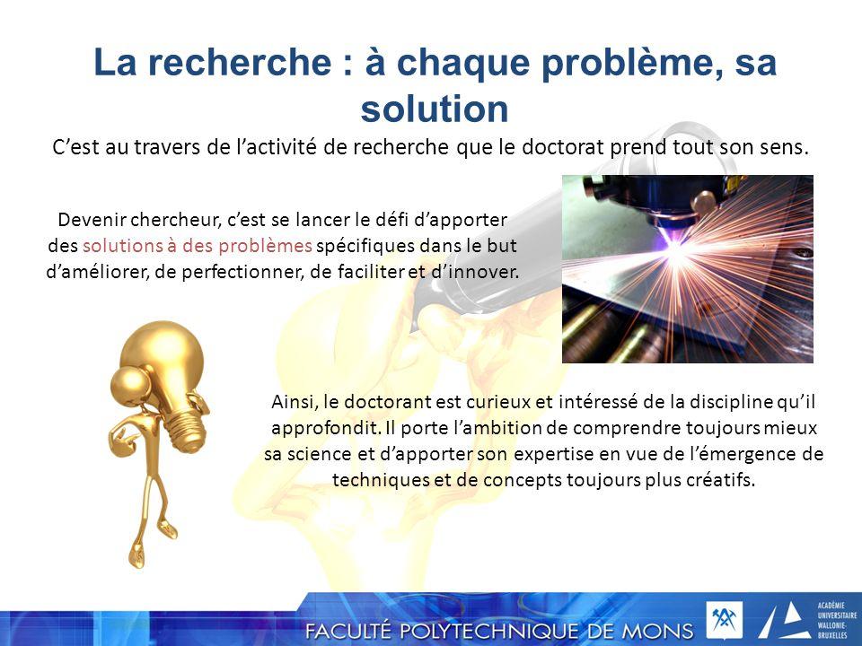 La recherche : à chaque problème, sa solution